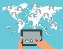 Vektor geschütztes Netz nennt webrtc Konzept Lizenzfreies Stockfoto