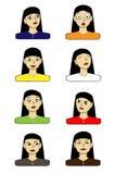 Vektor-gesetzte Gesichtsausdrücke Stockbild