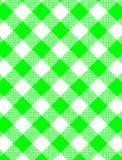 Vektor gesponnener grüner Gingham Stockbilder