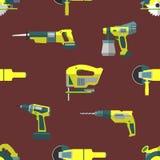 Vektor gestalten nahtloses Muster der Werkzeuge um Lizenzfreie Stockfotos