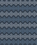 Vektor gestricktes geometrisches Muster Lizenzfreie Stockfotos