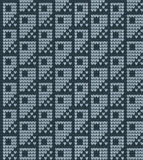 Vektor gestricktes geometrisches Muster Lizenzfreie Stockbilder