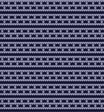 Vektor gestricktes geometrisches Muster Lizenzfreies Stockbild