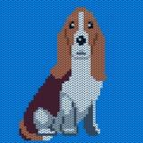Vektor gestricktes Hundemuster vektor abbildung