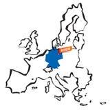 Vektor gezeichnete Europäische Gemeinschaft fasst Deutschland und Berlin ein Lizenzfreie Stockfotos
