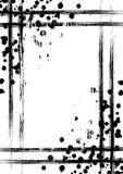 Vektor gezeichneter Hintergrund mit Rahmen, Grenze Schmutzschablone mit Spritzen, Sprayabreibung, Sprünge Im altem Stil Weinlesed vektor abbildung