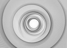 Vektor gjord randig bakgrund för spiralabstrakt begrepptunnel Spiral tratt Grå färger vred strålhålet Upphetsa försiktigt att rör vektor illustrationer