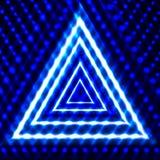 Vektor-glänzender Hintergrund, Dreiecke, glühend in die dunklen Linien, Neon vektor abbildung