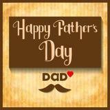 Vektor-glückliche Vatertags-Feierkarte Stockfotos