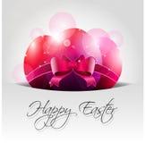 Vektor-glücklicher Ostern-Hintergrund mit rosa Eiern in P Stockfotografie