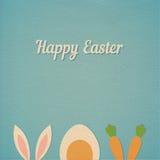 Vektor-glücklicher Ostern-Kartenhintergrund Stockbilder