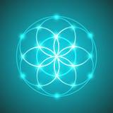 Vektor-glühende Blume der Leben-Symbol-Illustration Lizenzfreie Stockbilder