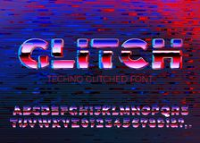 Vektor gliched technostilsort med distorsioner Arkivfoto