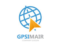 Vektor gps-Logo Punkt auf Kartensymbol vektor abbildung