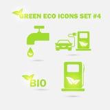 Vektor grüne eco Ikonen eingestellt Stockfotografie
