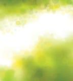 Vektor grüner bokeh Hintergrund Stockfotos