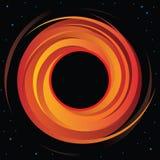 Vektor-Grafik des supermassiven Schwarzen Loches lizenzfreie abbildung