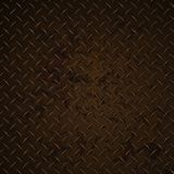 Vektor-Grafik-Illustration Diamond Plate Rusty Distressed Corrodeds realistische stockbild