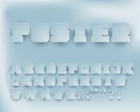 Vektor-grafischer Alphabet-Papiersatz Lizenzfreie Stockbilder