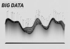 Vektor große Datensichtbarmachung abstrakten Grayscale Futuristisches infographics ästhetisches Design Sichtinformationen Lizenzfreies Stockbild