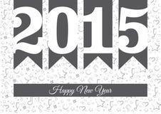 Vektor-guten Rutsch ins Neue Jahr 2015 vektor abbildung