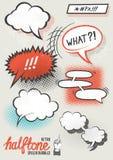 Vektor-Halbtonsprache-Blasen Stockbild