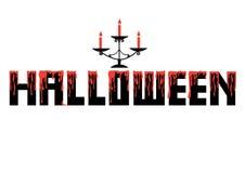 Vektor-Halloween-Designalphabet mit Kerze Lizenzfreies Stockfoto