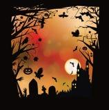 Vektor-Halloween-Horrorhintergrund Lizenzfreies Stockbild