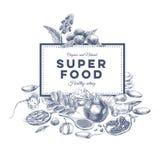 Vektor Hand gezeichnete superfood Illustration lizenzfreie abbildung