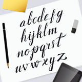 Vektor-Hand gezeichnetes Alphabet Stockfotos