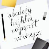 Vektor-Hand gezeichnetes Alphabet Stockfotografie