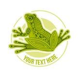 Vektor-Handgezogene Skizze der Froschillustration auf weißem Hintergrund lizenzfreie abbildung