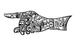 Vektor - Handzeichen Lizenzfreies Stockfoto