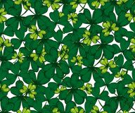 Vektor-Heiliges Patricks-Tagesnahtloses Muster Klee, Shamrock, Lizenzfreie Stockfotos
