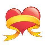 Vektor-Herz mit Band Stockbilder