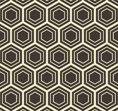Vektor-Hexagon-flach geometrische abstrakte Muster-Illustration Lizenzfreie Stockbilder