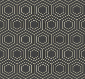 Vektor-Hexagon-flach geometrische abstrakte Muster-Illustration Stockfoto