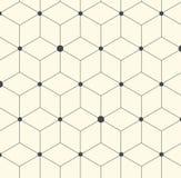 Vektor-Hexagon-geometrische abstrakte flache Muster-Illustration Stockfoto