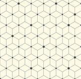 Vektor-Hexagon-geometrische abstrakte flache Muster-Illustration Lizenzfreies Stockfoto