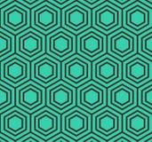 Vektor-Hexagon-geometrisches Muster Lizenzfreie Stockfotografie