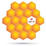 Vektor-Hexagonschritt Vektor Abbildung