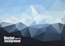 Vektor-Himmel und Dreieck-Hintergrund Futuristischer Technologiehintergrund Lizenzfreie Stockbilder