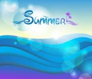 Vektor, Hintergrund des Sommers 3D Stockbilder