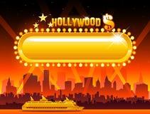 Vektor Hollywood-Hintergrund stock abbildung