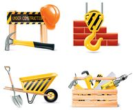 Vektor Homebuilding u. Erneuerung des Ikonensets. Teil 4 Lizenzfreies Stockbild