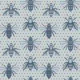 Vektor Honey Bees mit nahtlosem Musterhintergrund der Tupfen vektor abbildung