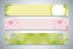 Vektor-horizontale Fahne Lizenzfreie Stockbilder