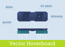Vektor hoverboard Illustration Lizenzfreies Stockbild