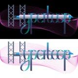 Vektor Hyperloop-Beschriftungs-Illustration Lizenzfreie Stockfotografie