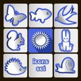 Vektor _icons_fauna_ Sommer Stockfotos